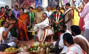 THE SADABHISHEKAM OF MR E V SUBRAHMNAYAN WAS CELEBRATED ON OCT 13,2014 AT SHANKARA HALL IN CHETPET,CHENNAI